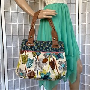 Fossil Floral Coated Canvas key- per Shopper tote